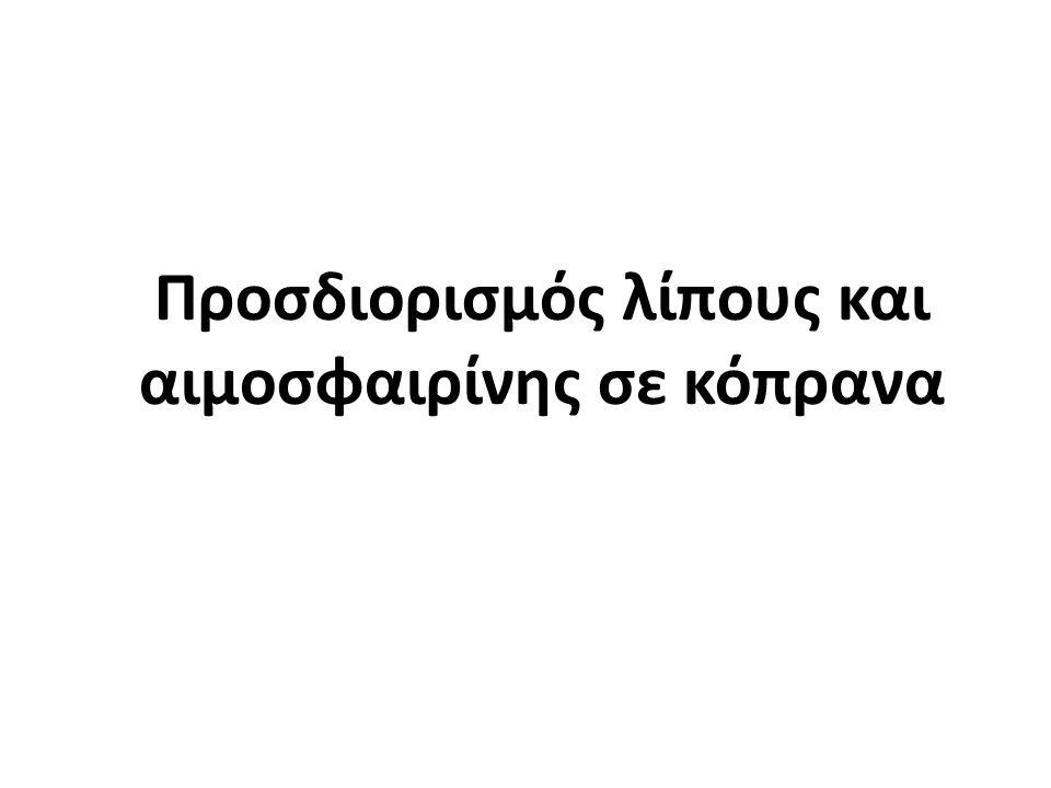 Στεατοκρίτης = [Λ/(Λ+Κ)] x 100